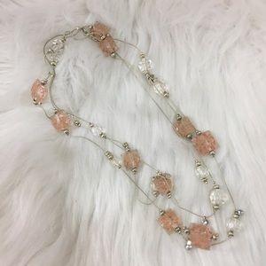 Jewelry - Silver tone faux crystal rhinestone necklace